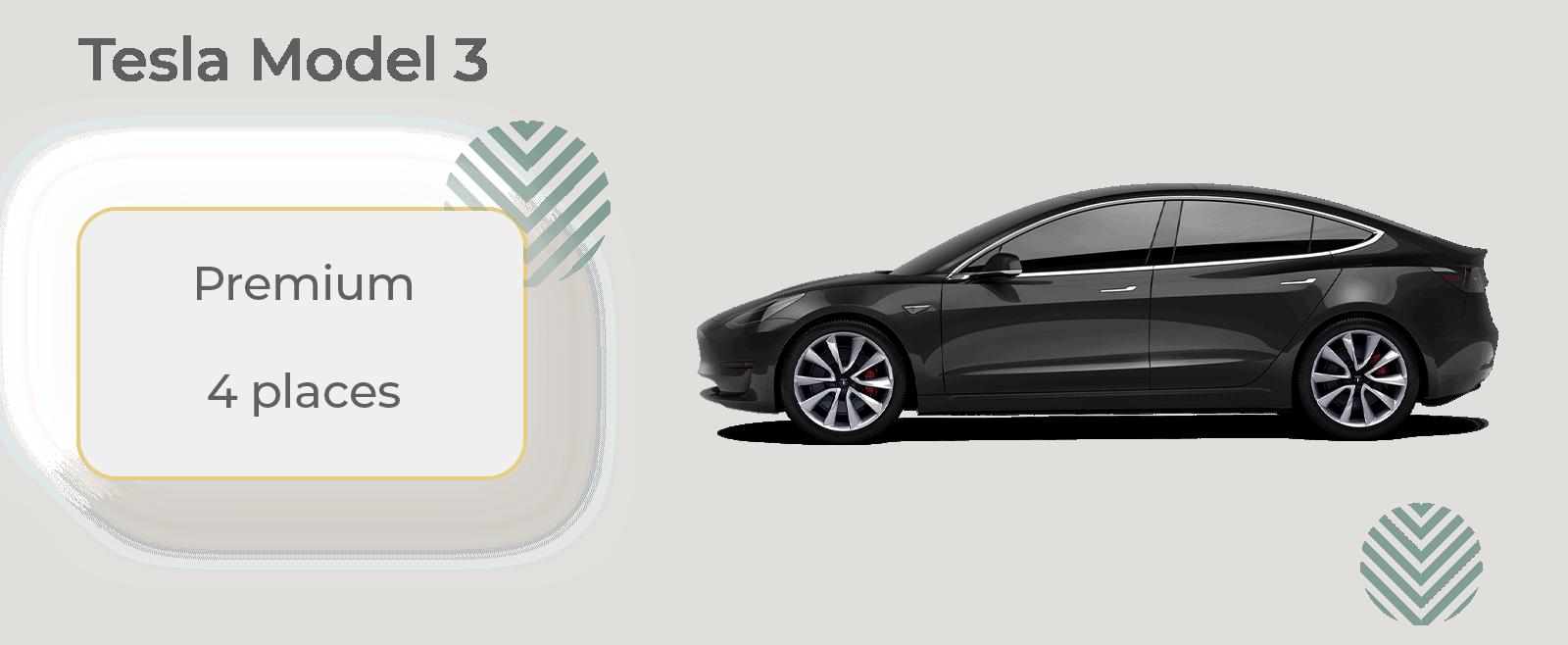 Tesla Model 3 en location avec chauffeur Vip pour déplacement confortable et incroyable